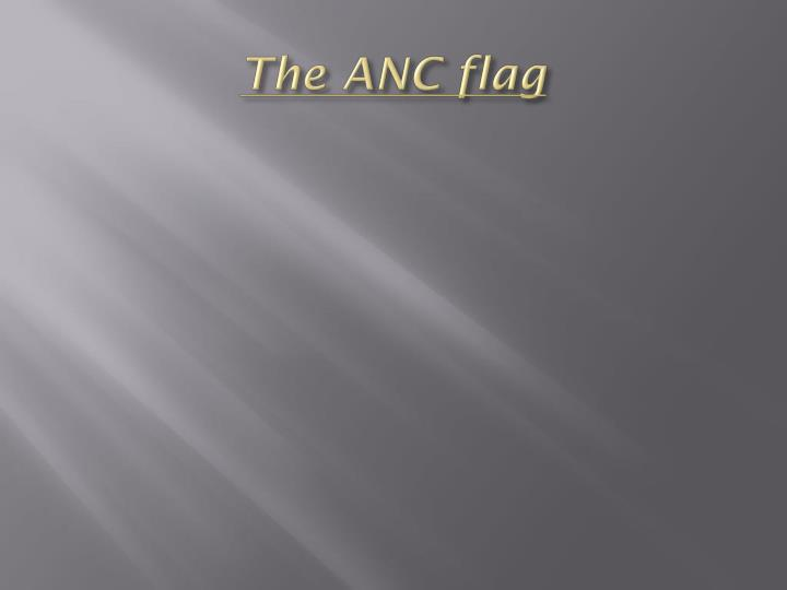 The ANC flag