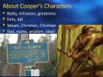 about cooper s characters
