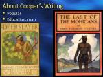 about cooper s writing