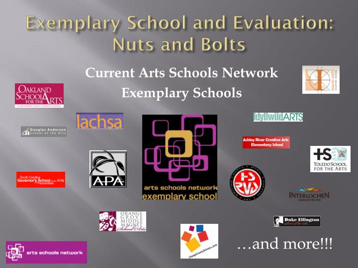 Exemplary school and evaluation nuts and bolts2