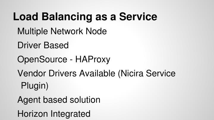 Load Balancing as a Service