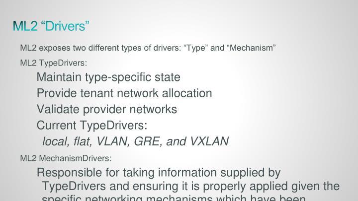 "ML2 ""Drivers"""