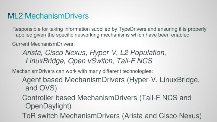 ML2 MechanismDrivers