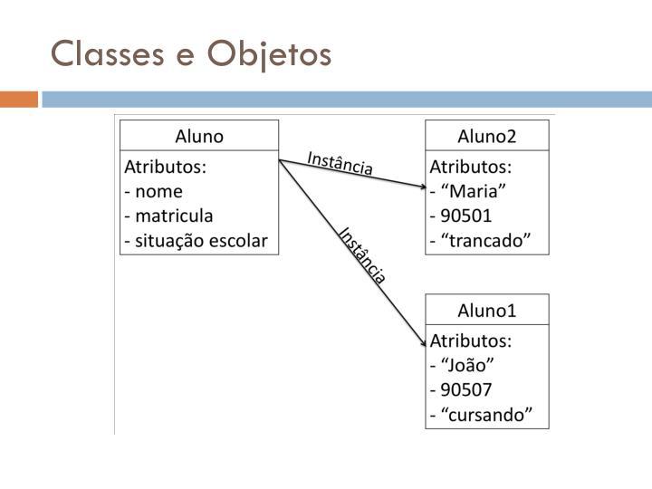 Classes e Objetos