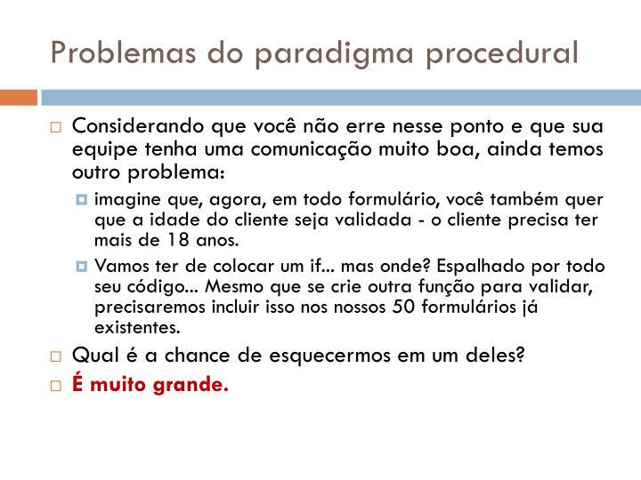 Problemas do paradigma