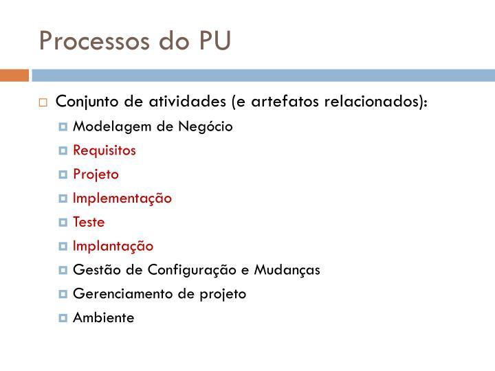 Processos do PU