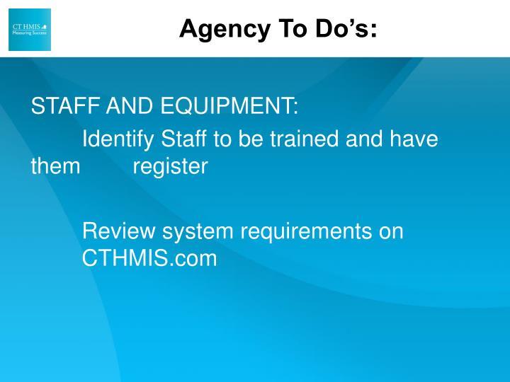 Agency To Do's