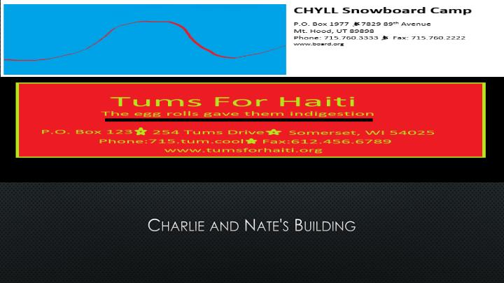 charlie and nate s building