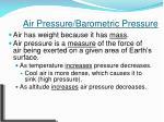 air pressure barometric pressure