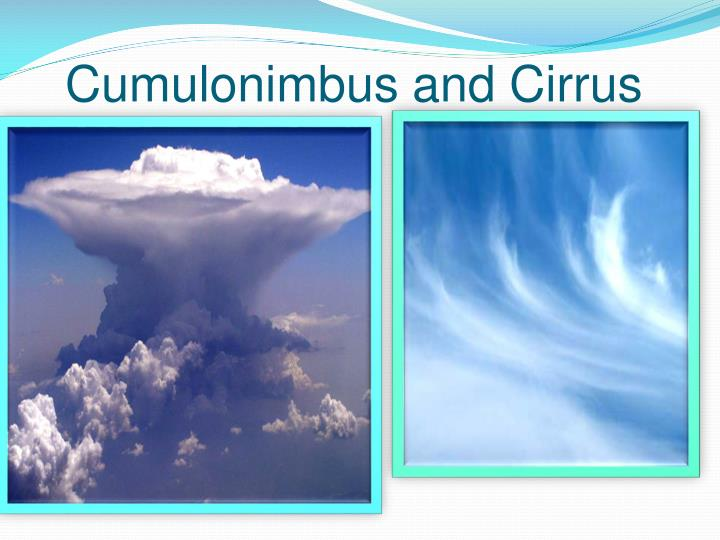 Cumulonimbus and Cirrus