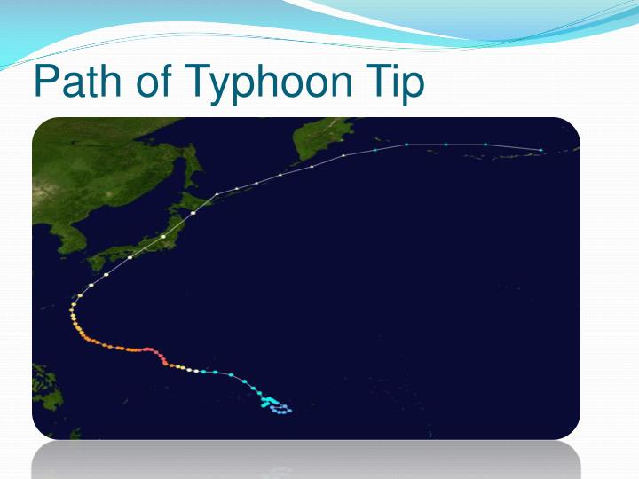 Path of Typhoon Tip