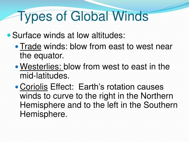 Types of Global Winds