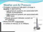 weather and air pressure