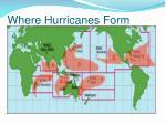 where hurricanes form