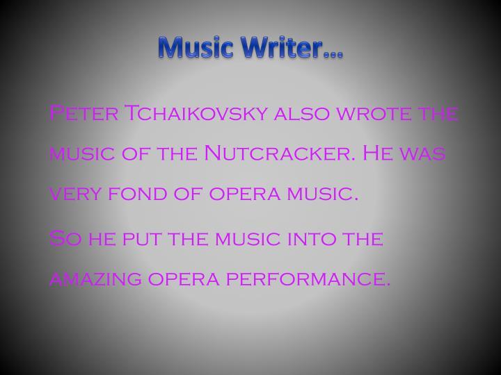 Music Writer…