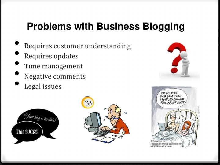 Problems with Business Blogging