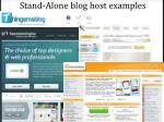 stand alone blog host examples