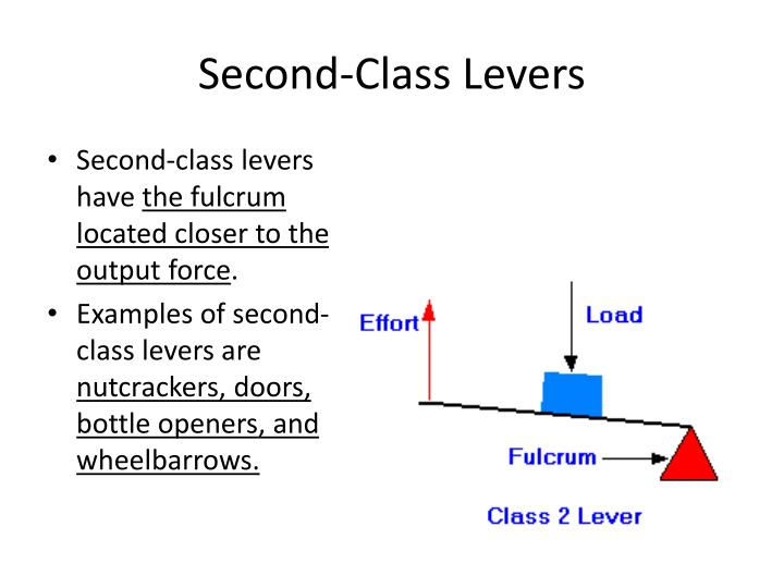 Second-Class Levers