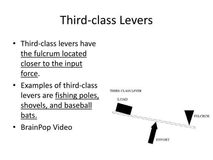 Third-class Levers