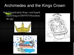 archimedes and the kings crown