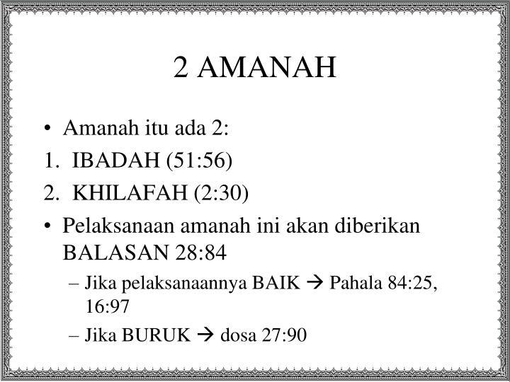 2 AMANAH