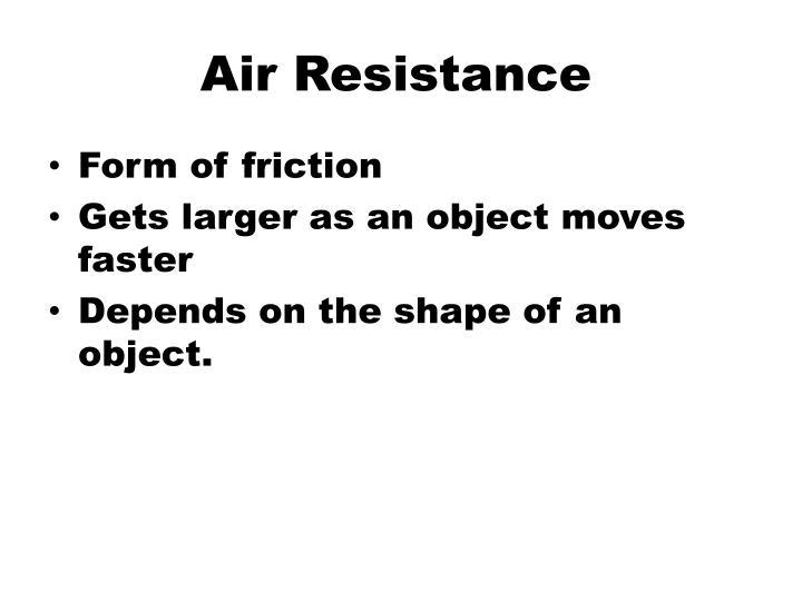Air Resistance