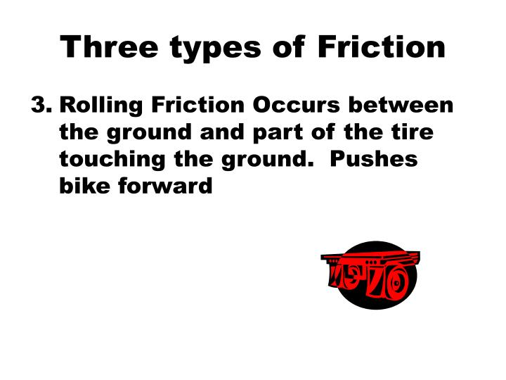 Three types of Friction