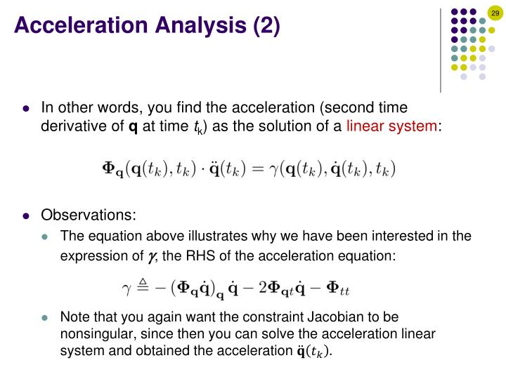 Acceleration Analysis (2)
