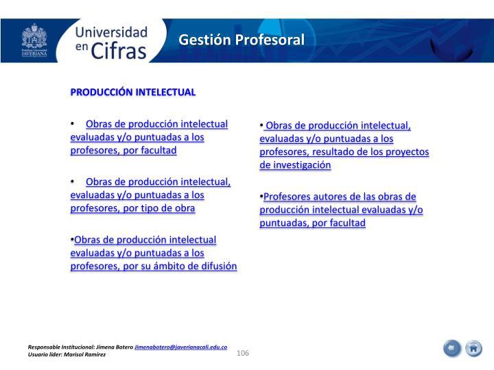 Gestión Profesoral