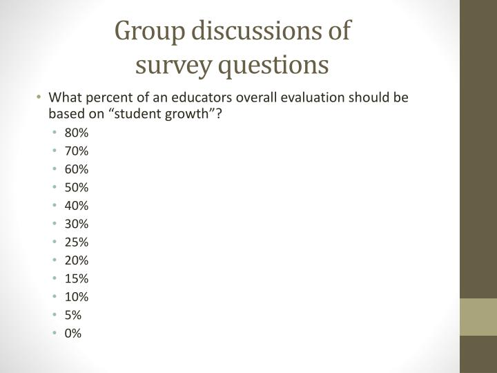 Group discussions of