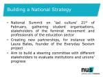 building a national s trategy