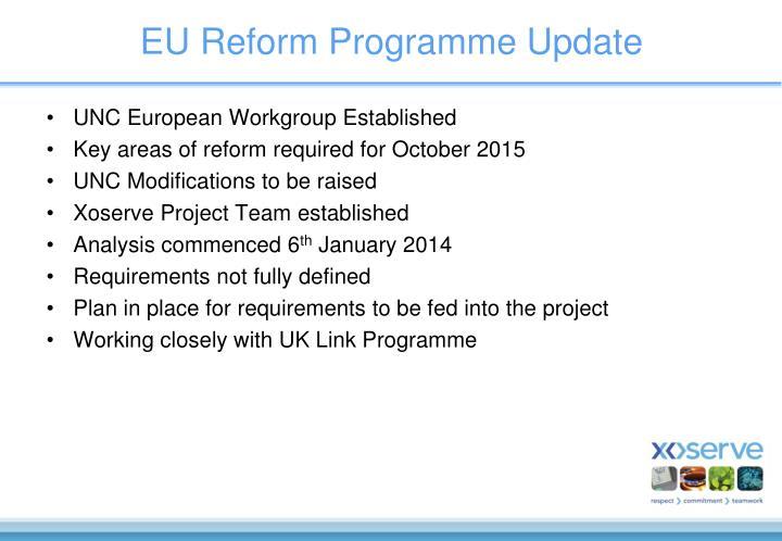 EU Reform Programme Update