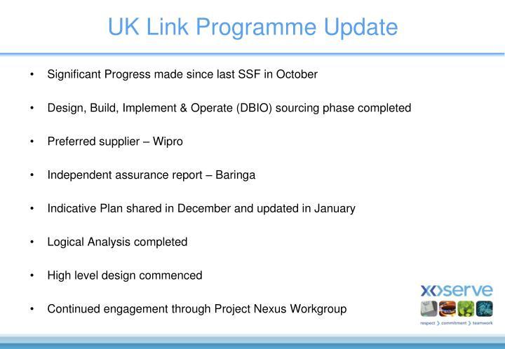 UK Link Programme Update