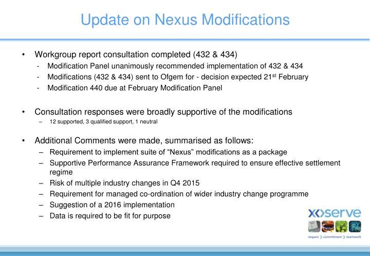 Update on Nexus