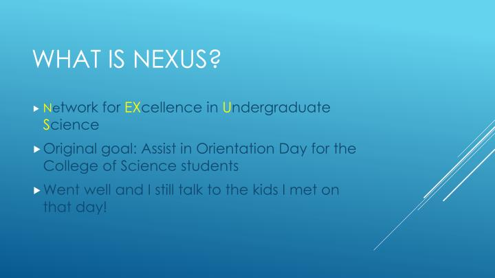 What is nexus
