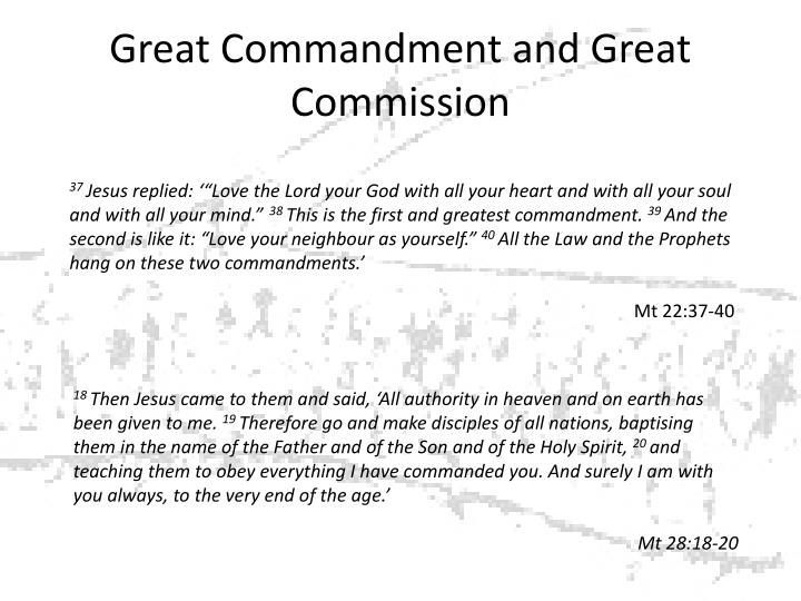 Great Commandment and Great Commission