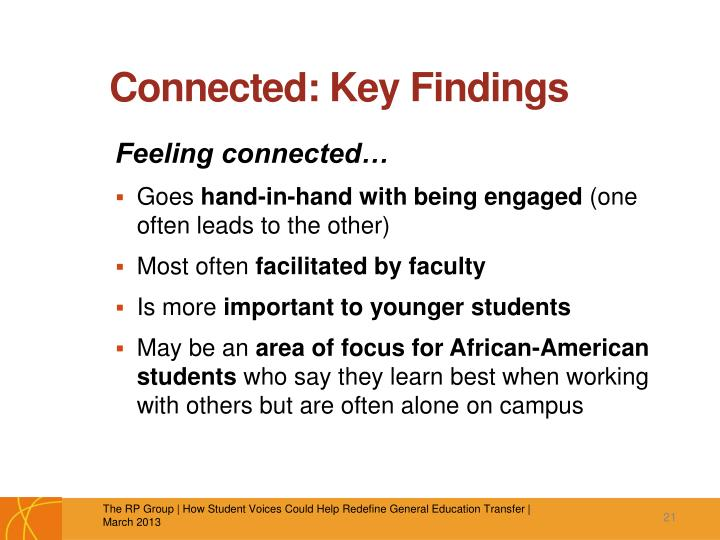 Connected: Key Findings