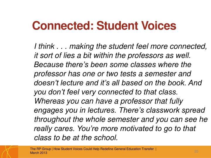 Connected: Student Voices