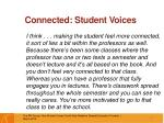connected student voices