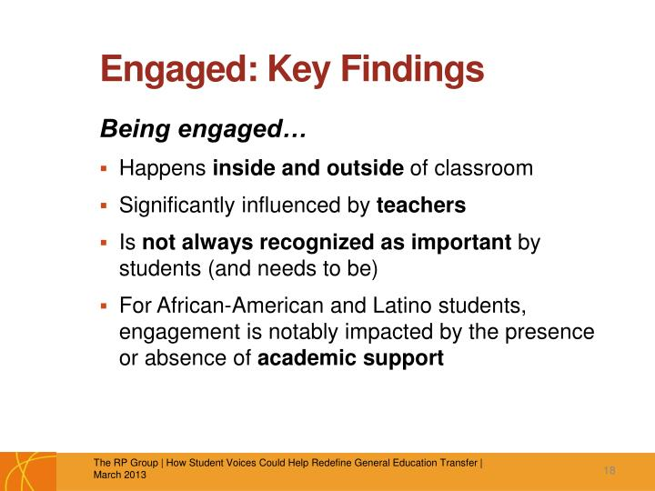 Engaged: Key Findings