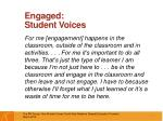 engaged student voices