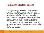 focused student voices