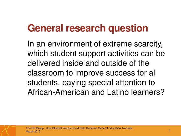 General research question