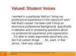 valued student voices