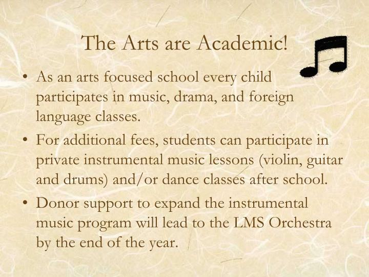 The Arts are Academic!