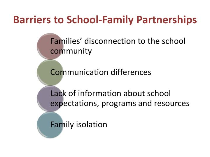 Barriers to School-Family Partnerships