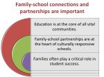 family school connections and partnerships are important