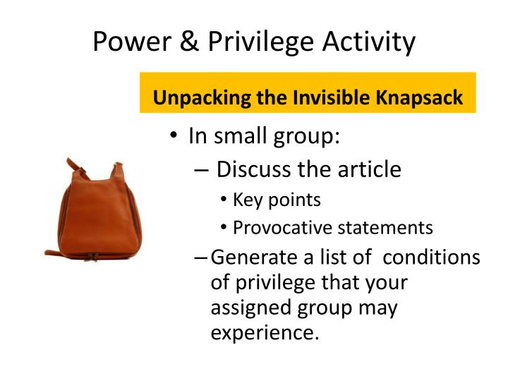 Unpacking the Invisible Knapsack