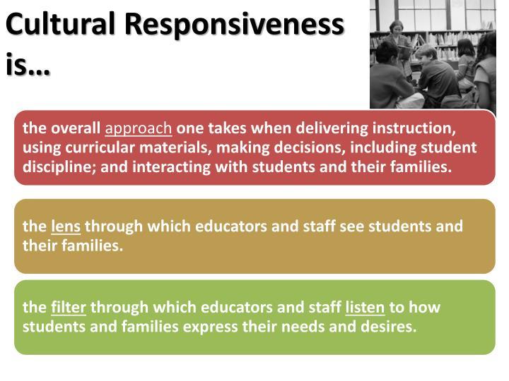 Cultural Responsiveness is…