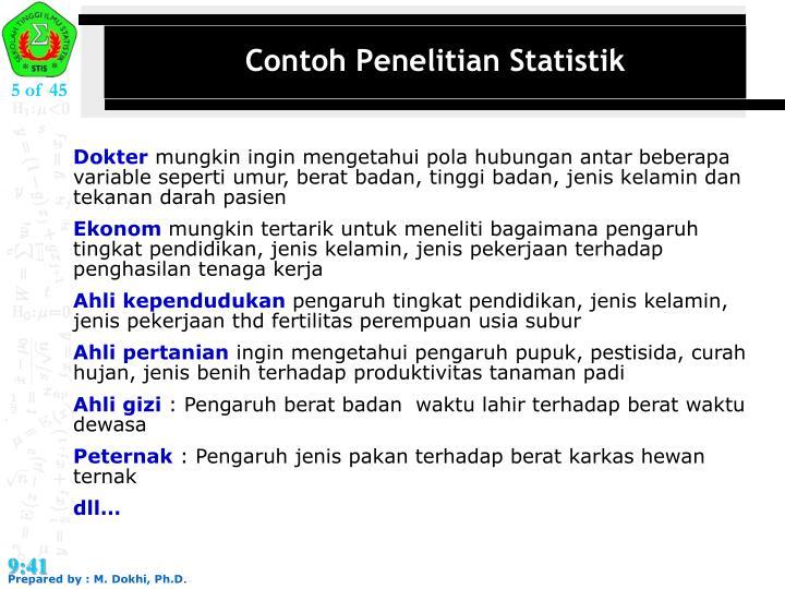 Contoh Penelitian Statistik